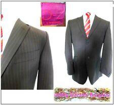 "Ozwald Boateng Mens suit Jacket Ch40""R Dark Brown & amber Pinstripe Merino wool"