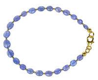 TANSANIT Armband 925 Silber vergoldet Armkette Z340