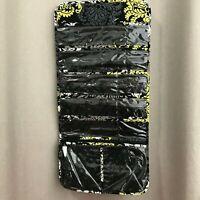 Vera Bradley Black/Yellow/Gray Large Hanging Organizer travel jewelry organizer