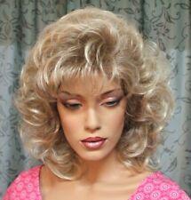 80er Jahre Mähne - Perücke mit vielen Styling-Varianten - blonde Strähnen
