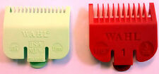 WAHL Clipper Guard Attachment Combs x 2 - Size 0.5 (1.5mm) + Size 1 Red (3mm)