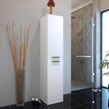 Bathroom 1450mm Patello white floorstanding wallhung tall storage cupboard unit
