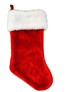 17 In  Red Plush Christmas Stocking
