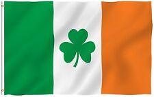 3X5 Ireland Irish Shamrock St. Patricks Day Flag Banner Clover Leaf FAST US SHIP