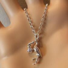 new sterling silver stork & baby pendant & chain