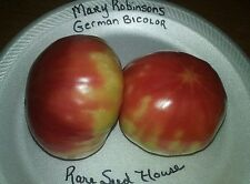 Mary Robinson's German Bicolor Tomato Seeds  - Loads of HUGE Fruit! COMB. S/H