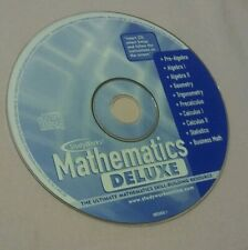 StudyWorks! Mathematics Deluxe (Cd-Rom, 2001) Cd only