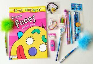 Girls Activity Set Gift Pack A4 Activity Book Ladybird Pencils Eraser Bracelet
