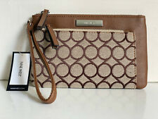 NEW! NINE WEST KHAKI BROWN WALLET WRISTLET BAG PURSE $39 SALE