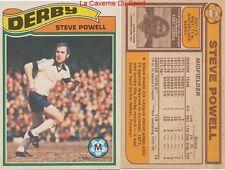 206 STEVE POWELL # ENGLAND DERBY COUNTY.FC CARD PREMIER LEAGUE TOPPS 1978
