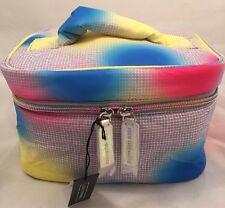 Lulu Guinness Fiesta Print Nylon Vanity Cosmetic Bag Multi