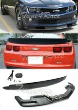 For 10-13 Camaro SS Front Bumper Lip & Rear Truck Spoiler ZL1 Package Style ABS