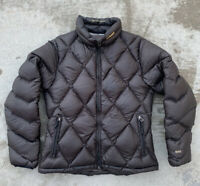 Vtg ORAGE Diamond Quilted Down 550 Fill Puffer Jacket Women's M Coat Full Zip