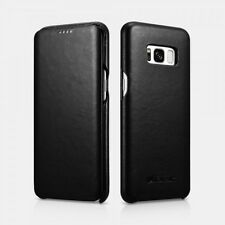 Samsung S8 Plus Etui en cuir véritable Luxury Curved Noir