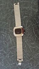 FOSSIL MEN'S LED WATCH QUARTZ:BATTERY,STAINLESS STEEL JR-7749 SCRATCHED VINTAGE