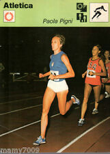 Scheda Rizzoli 1977=ATLETICA=PAOLA PIGNI=CM 16X12