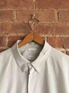 Jil Sander Mens Shirt Sz 44, Italy Blue/White Stripe
