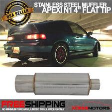 Fits 85-01 Honda Prelude Stainless Steel Muffler Apexi N1 Type 4 Inch Flat Tip