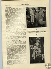 1928 PAPER AD Article Tunkhannock PA Toy Town Greenwood's Santa Christmas