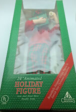"""Holiday Creations 24"""" Animated Holiday Figure Doll Christmas looks NEW! RNC0147"""