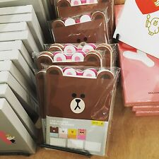 Korea LINE Friends Brown Cony Sally Choco Weekly Planner 4pc Set Mascot Gift
