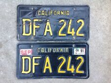 (2) - MATCHING PAIR 1963 - 1969 CALIFORNIA LICENSE PLATES