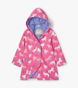NEW Painted Pasture Horses Colour Changing Kids Splash Jacket By Hatley