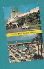 BEAU RIVAGE MOTEL Miami Beach FL 1966 FLORIDA POSTCARD AUTO