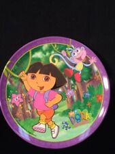 "Zak Designs 8"" Melamine PLATE - 8""-""Dora the Explorer""  Purple Rim 2005 VGUC"
