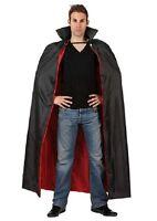 CAPE Noire et Rouge Longue VAMPIRE Déguisement Homme Femme Halloween NEUF