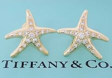 New Listingtiffany Co Elsa Peretti 18k Yellow Gold 0 30 Ct Diamond Starfish Earrings