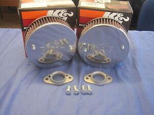 MG   MGB 1800 PAIR  K & N AIR FILTERS WITH FREE STUB STACKS    ***