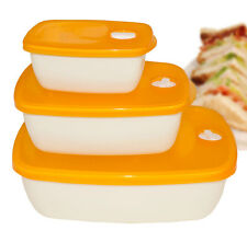 Oliveware Plastic Unique Container, Set of 3 Pieces