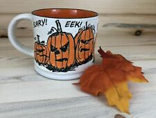 Halloween Pumpkins Scary Faces Coffee Cup Orange/ Black