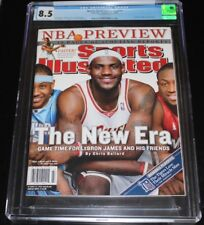 2bf3932123cde 2006 LEBRON JAMES CLEVELAND CAVALIERS SPORTS ILLUSTRATED CGC 1 OF 2 GRADED  8.5