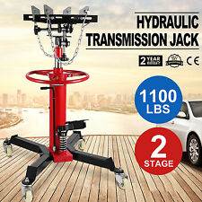 0.5 Ton Hydraulic Transmission Jack Stand Gearbox Lifter Hoist 500kg 2 Stage