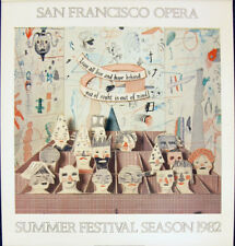DAVID HOCKNEY  - original 1982 poster for SAN FRANCISCO OPERA season