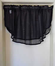 1 Solid Sheer Double Ruffled Window Valance Topper Waterfall Rod Pocket CHELSEA
