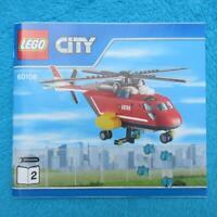 """LEGO 60108 CITY """"Feuerwehr Hubschrauber"""" #2 ! NUR !! Anleitung Bauanleitung"""