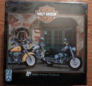 [NEW & SEALED] Harley Davidson Fat Boy Jigsaw Puzzle Scott Jacobs 500 Pieces