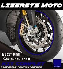 """KIT LISERETS DE JANTES MOTO - Compatible 17"""" à 20"""" / Tenue 5-7 ans / Courbés"""