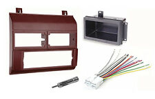 Burgundy Single Din Aftermarket Radio Stereo Dash Kit Complete Bezel Garnet Red