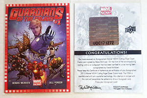 Guardians of the Galaxy #1 Marvel Now Cover Steve Mcniven SIGNED AUTO CARD COA