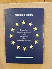 greece 2002 euro coin set (very rare)