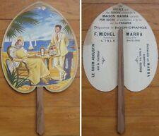 Fan: 1930s French Advertising, Color Litho: Boer-Orange & Rhum/Rum Augustin
