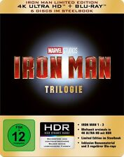 THE IRON MAN : STEELBOOK TRILOGY (4K ULTRA HD) - Blu Ray -Region free