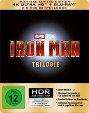 THE IRON MAN : STEELBOOK TRILOGY (4K ULTRA HD) - Blu Ray -Region free