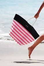 Victoria's Secret NEW Swim Beach Striped Large Tote 2016 Color Black/Pink/White