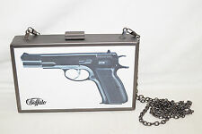 Buffalo Clutch Gun to Late 16,5 10 3,5cm Frame Faux Leather Filling