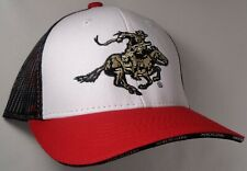 Hat Cap Licensed Winchester Black Mesh Red White OC